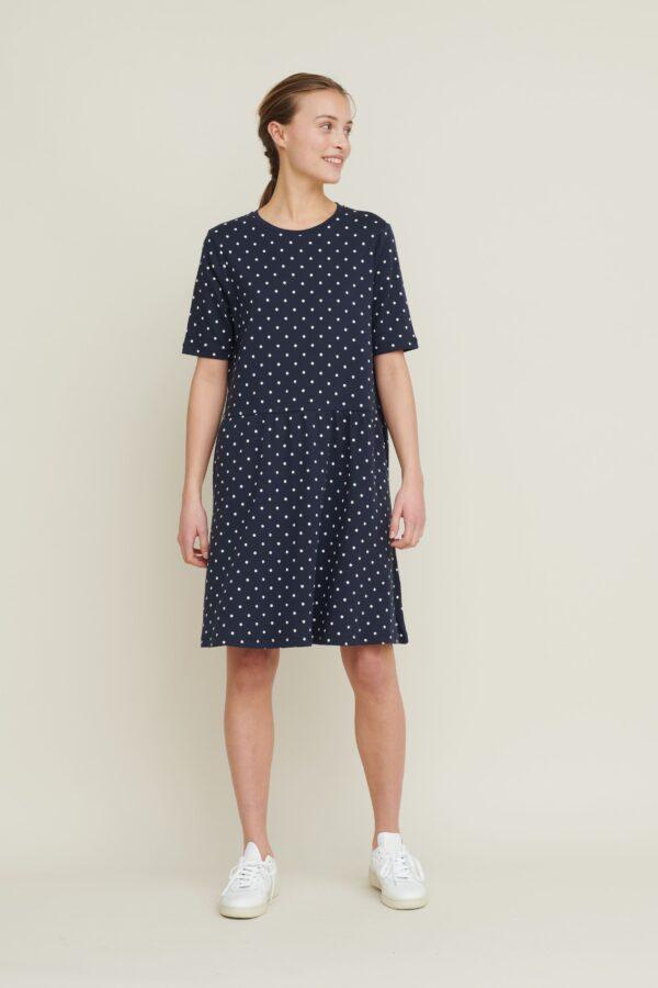 Signe dress - navy dot