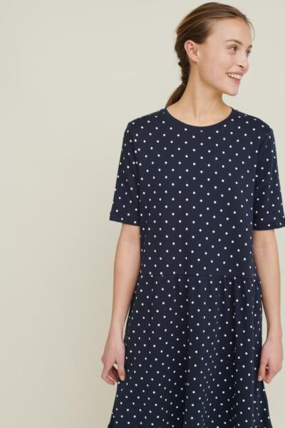 signe dress - navy - basic apparel