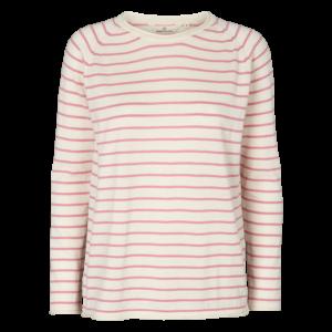 soya sweater - wild rose - stribet
