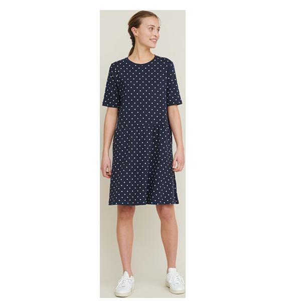 Basic Apperal Signe dress - navy dot