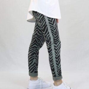Amaze relax bukser grå og sort zebra mønster