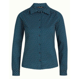 King Louie Bluse Trifle i dragonfly green. Med knapper