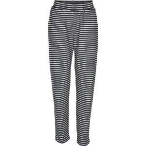 Basic Apparel stribet Vendela bukser, navyd og offwhite.