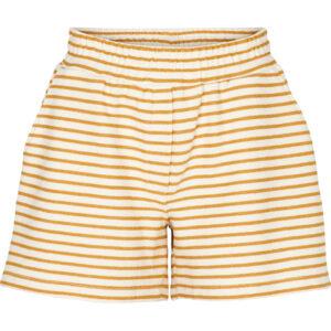 Basic Apparel stribet Vendel shorts, Inca gold og offwhite