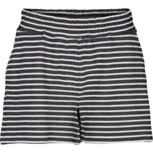 Basic Apparel stribet Vendel shorts, navy og offwhite