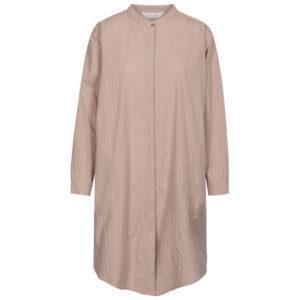 Gai + Lisva Oline brun rosa bomulds skjorte kjole med tynde striber