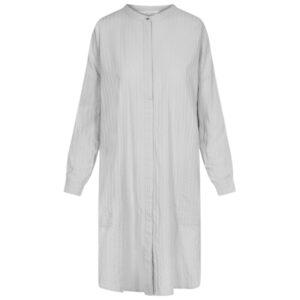 Gai + Lisva Oline sølv grå bomulds skjorte kjole med tynde striber