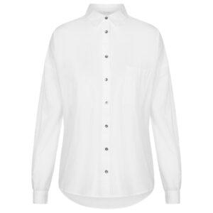 Gai + Lisva Shanta bomulds Poplin hvid skjorte.