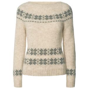 Gai + Lisva Lillie strik pullover med nordisk mønster i sand