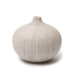 Lindform vase - Stor grå stribe