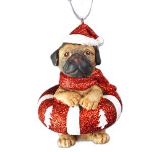 Hund med redningskrans, julefigur