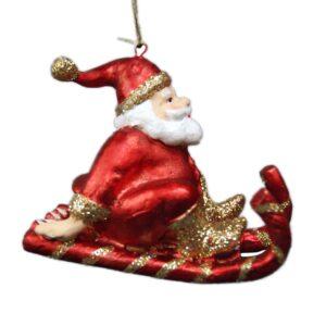 Julefigur, julemand på slæde