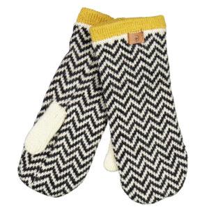 Fuza Wool Wonderland luffer med mønster mustard