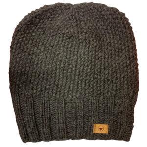 Fuza Wool Jap hat i coal. Strikket uld hat i koks grå