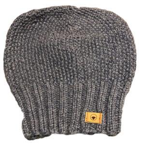 Fuza Wool Jap hat i coal. Strikket uld hat i silver blue