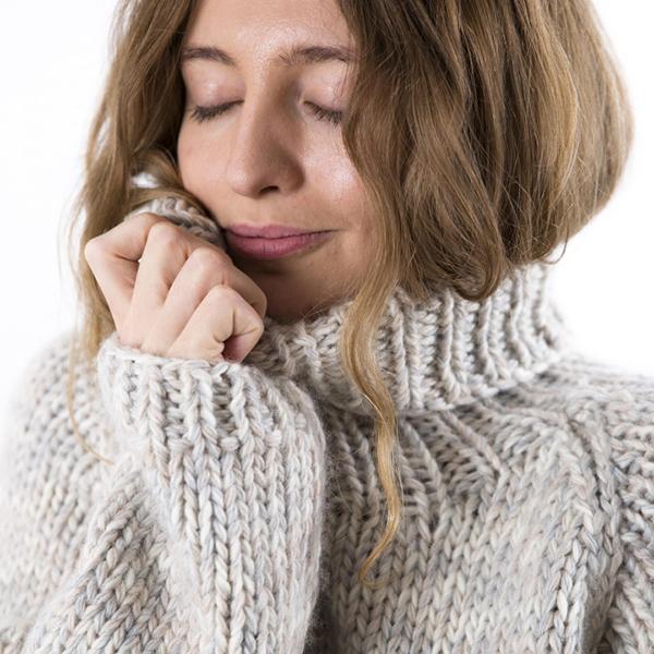 Fuza Wool strik sweater i merino uld