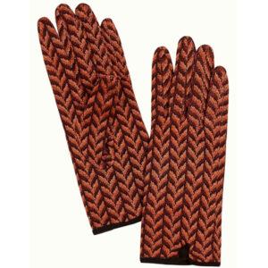 King Louie strikket handsker Mistletoe Windsor red. Med flot mønster