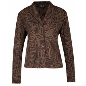 Zilch brun Jakke med mønster og med knapper