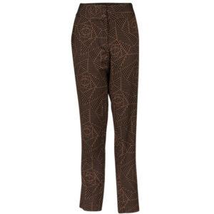 Zilch brune bukser med mønster og lommer