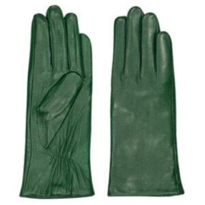 Zilch grønne skindhandsker der er foret