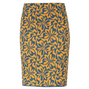 Zilch strikket nederdel med mønster wiggle gold