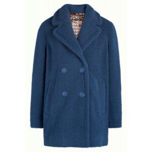 Megan coat Murphy - Bluestone blue