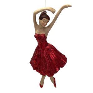 Ballerinafigur i rødt
