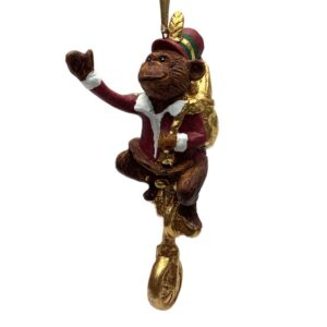 Julefigur, abe på cykel