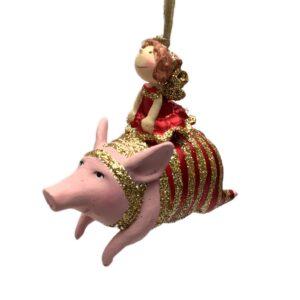 Pige på gris, julefigur