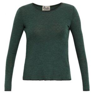 Jalfe shirt - Mosgrøn - Meleret