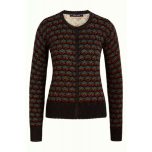 Cardi roundneck muffin - black - King Louie